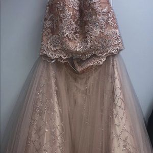 Rose gold grad /prom dress by Alyce Paris (16/18)
